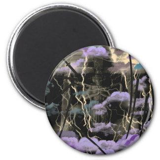 Asura anger 6 cm round magnet