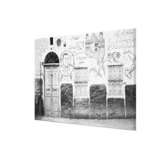 Aswan Egypt, Decorated House Canvas Print