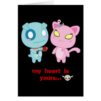 Asyl & Nadel Valentine - My Heart is Yours Greeting Card