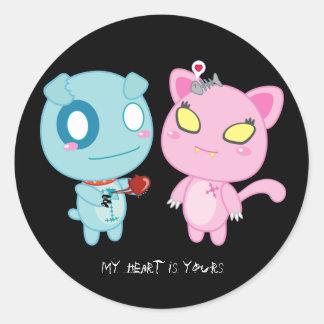 Asyl & Nadel Valentine - My Heart is Yours Round Sticker