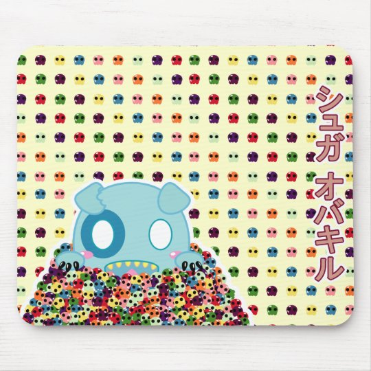 Asyl the Dog - Sugar Skulls - customisable Mouse Mat