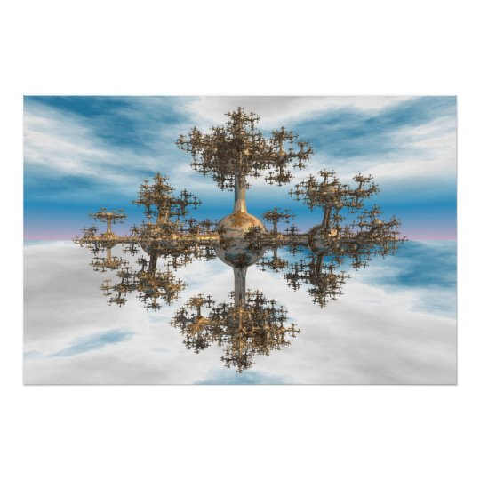 Asymetricall Fractal Poster