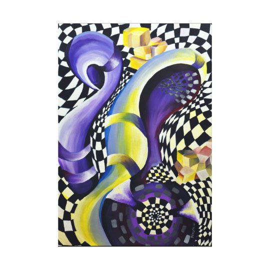 Asymmetric depth of optical illusions No.1 Canvas Print