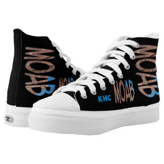 "Asymmetrical Date + Monogram Personalised ""Moab"" High Tops"