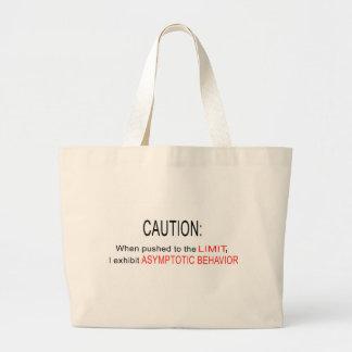 Asymptotic behavior jumbo tote bag