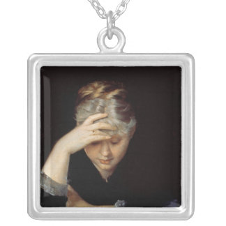 At a Book Silver Plated Necklace