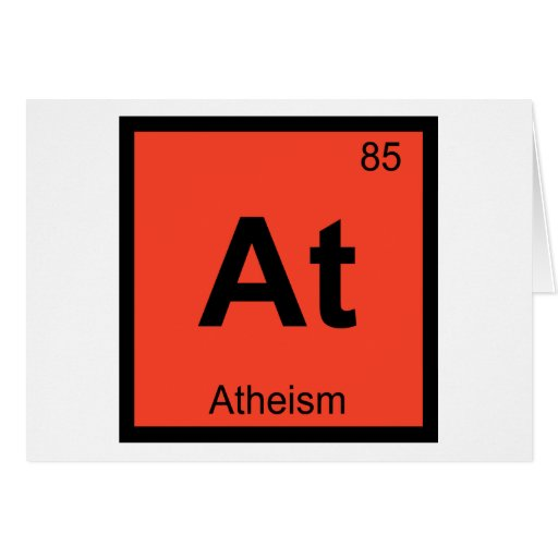 At - Atheism Philosophy Chemistry Symbol Greeting Cards