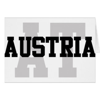 AT Austria Greeting Card