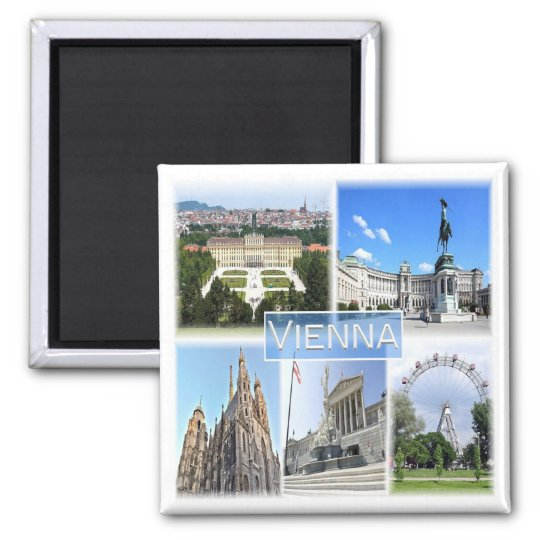 AT * Austria - Vienna Square Magnet