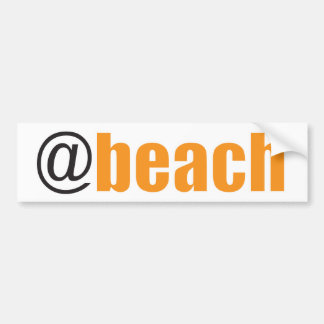 At Beach Bumper Sticker