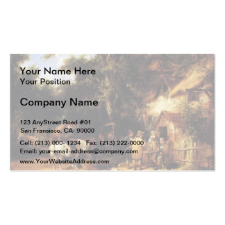 At Bell Inn Cadnam New Forest by William Shayer Business Card Templates