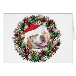 At Christmas - Bulldog Note Card
