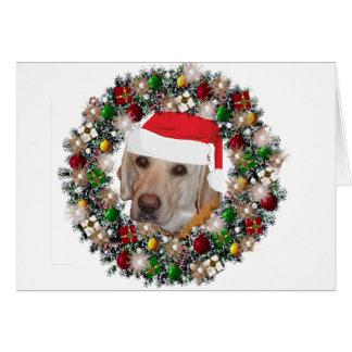 At Christmas - Labrador Retriever Note Card