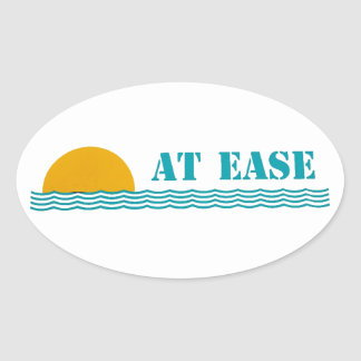 """""""At Ease"""" custom oval sticker"""
