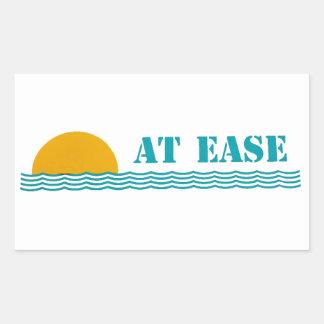 """""""At Ease"""" custom rectangular sticker"""