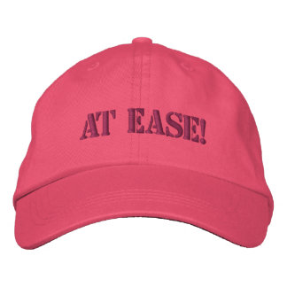 AT EASE! EMBROIDERED BASEBALL CAP
