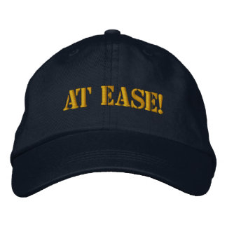 AT EASE! EMBROIDERED BASEBALL CAPS