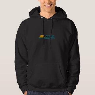 """""""At Ease"""" men's custom hooded sweatshirt"""