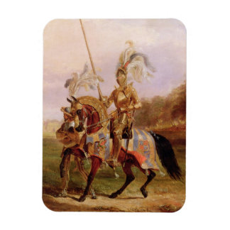 At Eglinton, Lord of the Tournament, 1840 (oil on Rectangular Photo Magnet