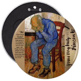 At Eternity's Gate by Van Gogh 6 Cm Round Badge