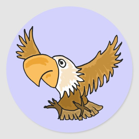 AT- Funny Cartoon Eagle Stickers