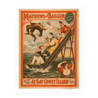 """At gay Coney Island"" Musical Comedy Poster #2 Postcard"