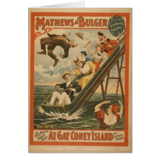 At Gay Coney Island, 'Out of It!' Retro Theater Greeting Card