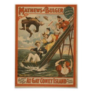 At Gay Coney Island Out of It Retro Theater Print