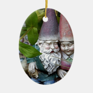 At Gnome in the Garden Christmas Tree Ornament