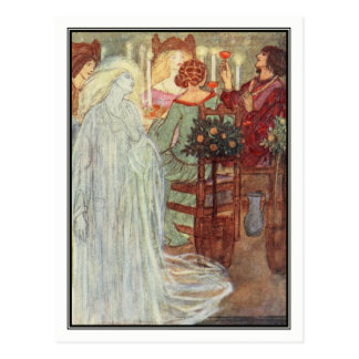 At Home by Florence Harrison Postcard