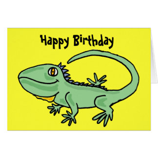 AT- Iguana Birthday Card
