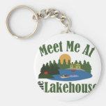 At Lake House Basic Round Button Key Ring