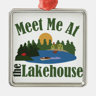 At Lake House Christmas Ornament
