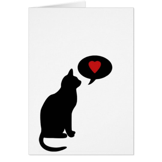 At least your cat loves you card