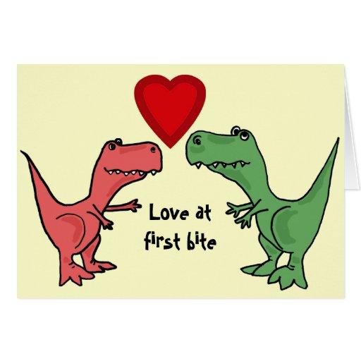 AT- Love at First Bite Dinosaur Card