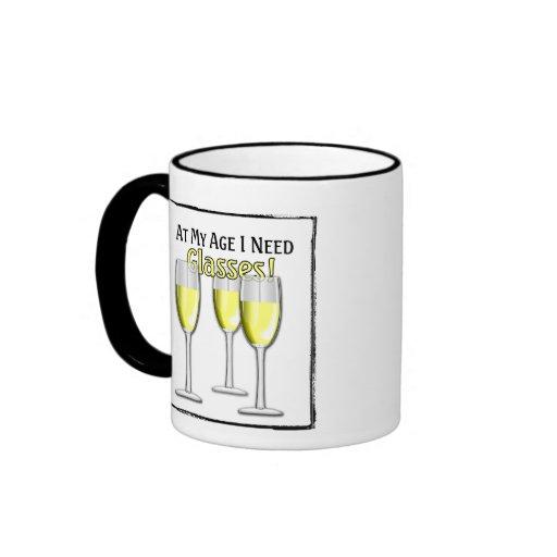 At My Age (White Wine Lover) - Mug