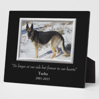 At Our Side Silver Frame Pet Memorial Template