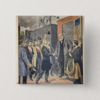 At Paris: the Arrival of President Kruger 15 Cm Square Badge