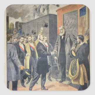 At Paris: the Arrival of President Kruger Square Sticker