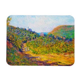 At Petit-Dalles, 1884 Claude Monet cool, old, mast Rectangular Photo Magnet