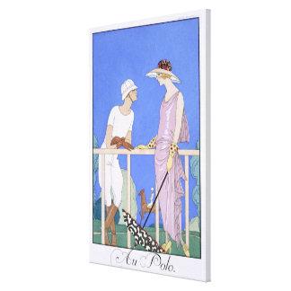 At Polo, 1920-29 (pochoir print) Canvas Prints