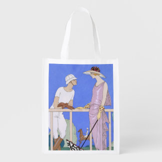 At Polo, 1920-29 (pochoir print) Reusable Grocery Bag