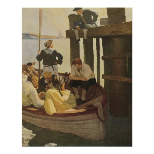 At Queen's Ferry by NC Wyeth, Vintage Pirates