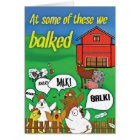 'At some of these we balked' Funny Sobriety Card