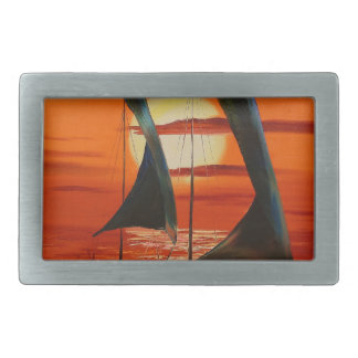 At sunset belt buckles