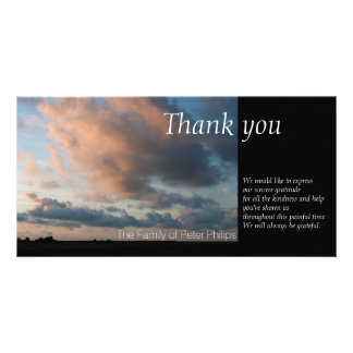 At Sunset - Peaceful Sky -1- Sympathy Thank You Photo Greeting Card