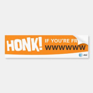 AT&T honk if sticker Bumper Sticker
