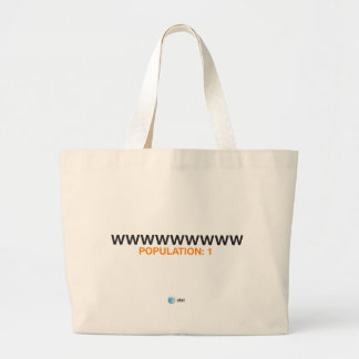 AT&T population bag. Large Tote Bag