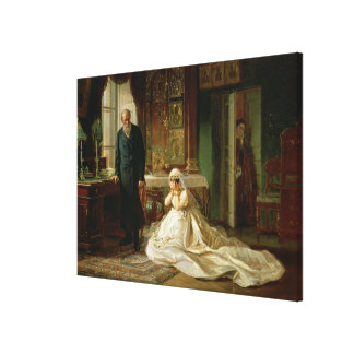 At the Altar, 1870s Canvas Print