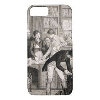 At the Bank, c.1800 (engraving) iPhone 8/7 Case